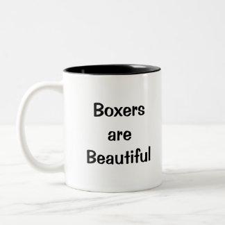 Los boxeadores son hermosos taza dos tonos