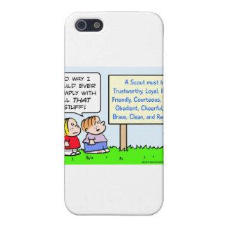 los boy scout cumplen clase leal digna de iPhone 5 carcasa