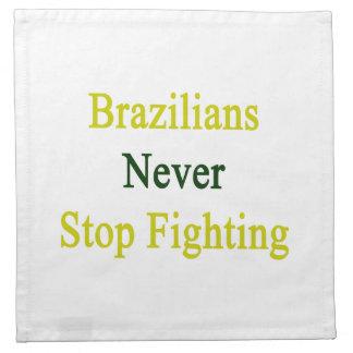 Los brasilen@os nunca paran el luchar servilletas imprimidas