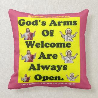 Los brazos de dios de la recepción están siempre cojín decorativo