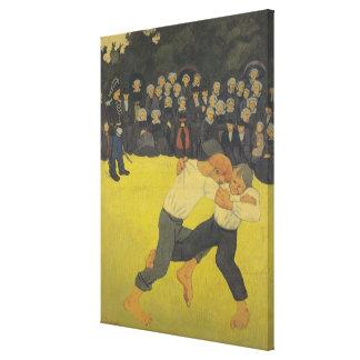 Los bretones de lucha, c.1893 impresiones en lienzo estiradas