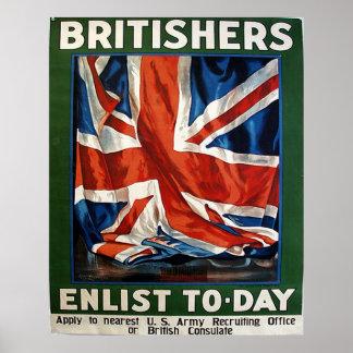 Los británicos alistan hoy póster