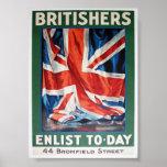 los británicos alistan póster