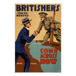 Los británicos usted es poster necesario del