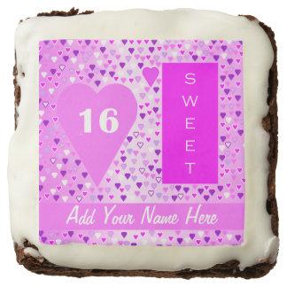 Los brownie del fiesta del dulce 16 pican blanco,