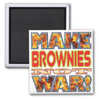Los brownie hacen X Imán Cuadrado