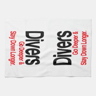Los buceadores van más profundos toallas de cocina