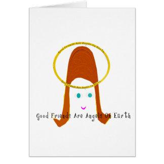 Los buenos amigos son ángeles en la tierra tarjeta de felicitación