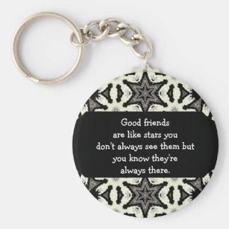 Los buenos amigos son como cita de encargo de las  llavero redondo tipo pin