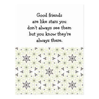 Los buenos amigos son como cita de encargo de las  postales