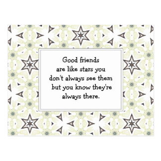 Los buenos amigos son como cita de encargo de las tarjeta postal