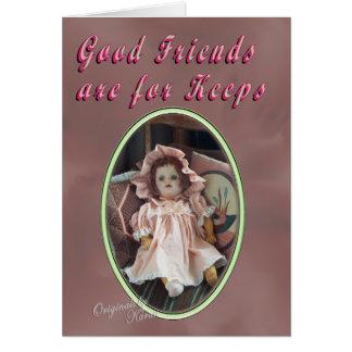 Los buenos amigos son encargados tarjeta