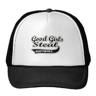 Los buenos chicas roban (el negro) gorros bordados