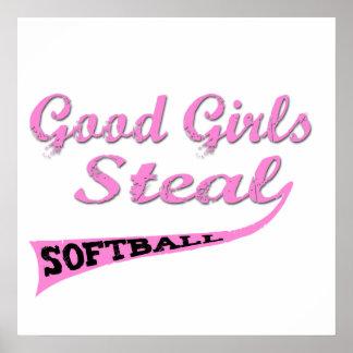 Los buenos chicas roban (urbanos rosados) póster