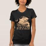 Los buenos chicas van al cielo que van los malos c camiseta