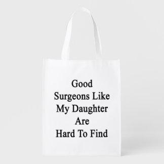 Los buenos cirujanos como mi hija son duros de bolsas para la compra