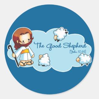 Los buenos pegatinas de Shepard Etiqueta Redonda