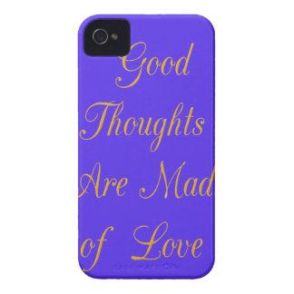 Los buenos pensamientos se hacen de amor iPhone 4 cárcasa