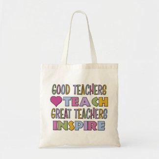 Los buenos profesores enseñan bolsa tela barata