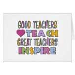 Los buenos profesores enseñan felicitación