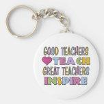 Los buenos profesores enseñan llavero personalizado