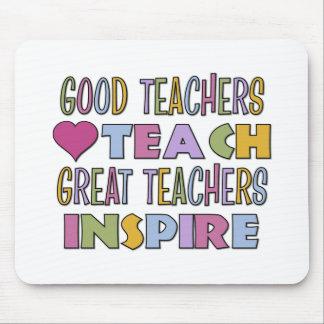 Los buenos profesores enseñan mouse pads