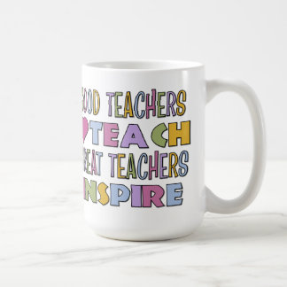 Los buenos profesores enseñan tazas