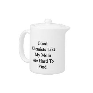 Los buenos químicos como mi mamá son duros de