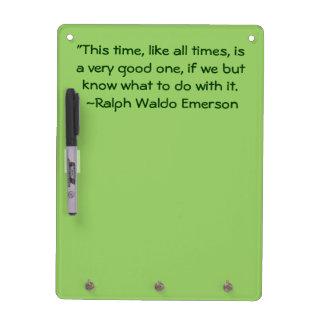 Los buenos tiempos de Ralph Waldo Emerson citan la Pizarra Blanca