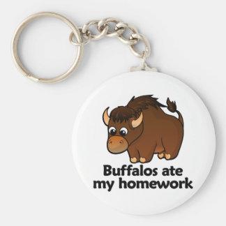 Los búfalos comieron mi preparación llavero redondo tipo pin