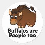 Los búfalos son gente también etiquetas redondas