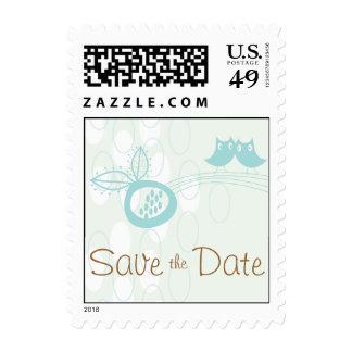 Los búhos azules en amor ahorran de la fecha los s sello