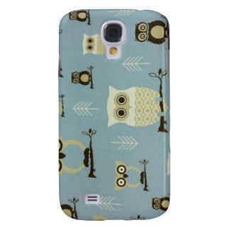 Los búhos azules Samsung llaman por teléfono al ca Funda Samsung S4