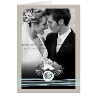 Los búhos caprichosos en foto del boda del amor le tarjeta pequeña