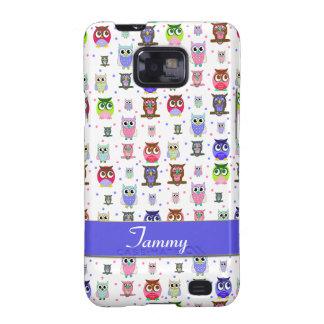 Los búhos coloridos Samsung de la diversión llaman Samsung Galaxy S2 Carcasas