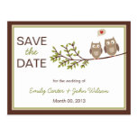 Los búhos lindos ahorran la postal de la fecha
