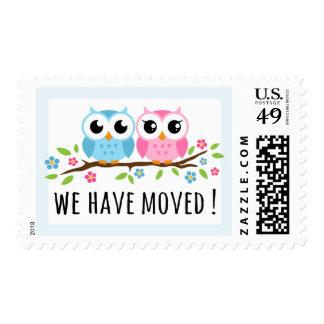 Los búhos lindos hemos movido el cambio de mudanza sello