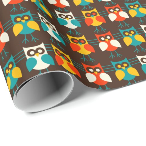 Los búhos modelan 1 papel de embalaje papel de regalo