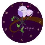 Los búhos púrpuras personalizaron el reloj de pare