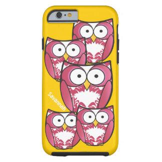 Los búhos rosados coloridos lindos cambian funda de iPhone 6 tough