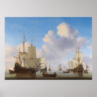 Los buques de guerra holandeses y el otro envío en impresiones