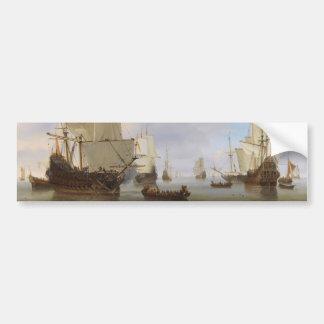 Los buques de guerra holandeses y el otro envío en pegatina para auto