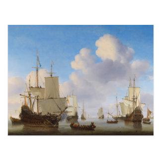 Los buques de guerra holandeses y el otro envío en postal
