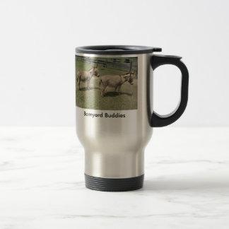 Los burros miniatura hacen a grandes compinches taza de viaje