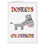 Los burros son impresionantes tarjetas