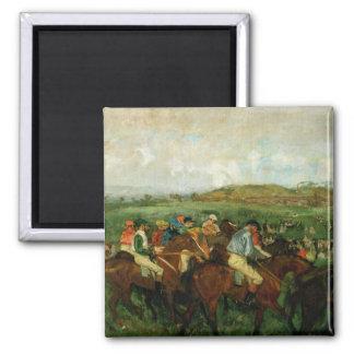Los caballeros de Edgar Degas el | compiten con, Imán Cuadrado