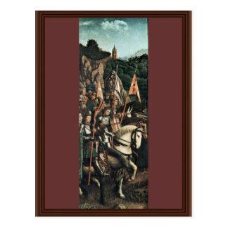 Los caballeros honrados (copia) por Eyck Huberto V Tarjetas Postales