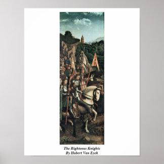 Los caballeros honrados de Huberto Van Eyck Poster