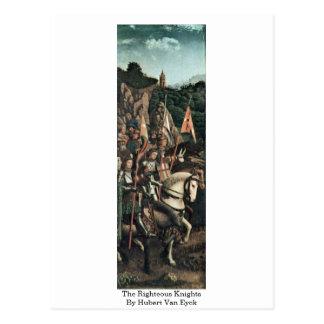 Los caballeros honrados de Huberto Van Eyck Tarjeta Postal
