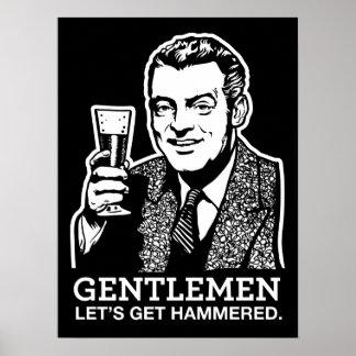 Los caballeros nos dejaron conseguir el poster mar